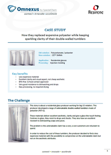 Preview of the double-walled tumbler CET case study