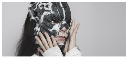 Björk with 3D Printed Mask