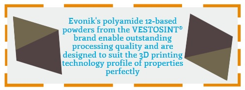 Evonik to Participate & Introduce PA 12 for 3D Printing in HP's Open