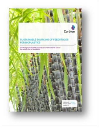 Corbion Release Whitepaper Feedstock Sourcing for Bioplastic