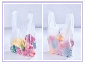 Bag on the Left Side is Made From the Translucent Bio-Flex FX 1803, and the Bag On the Right Side is Made From the More Tear Resistant Bio-Flex FX 1824