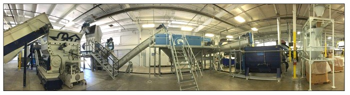 PolyWood Recycling Plant with Systems from Lindner washTech