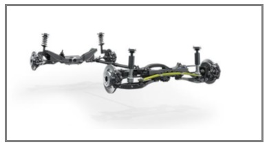 Rear Axle with a Transverse Composite Leaf Spring, Now Also Featured on Volvo's New S90 Luxury Sedan and V90 Station Wagon Models