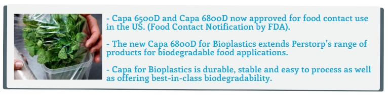 Capa™ for Bioplastics for Food Packaging