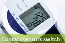 Contact sensors switch