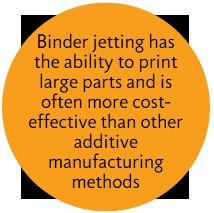 binder jetting advantage