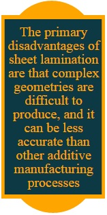 sheet lamination disadvantages