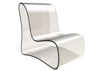 Designer Chair Made from PMMA
