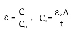 Formula to Calculate Dielectric Constant
